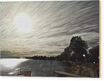 Braided Sky Wood Print by Matt Molloy