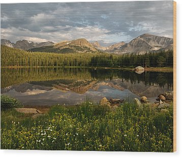 Wood Print featuring the photograph Brainard Lake by Ronda Kimbrow