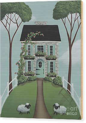 Brambleberry Cottage Wood Print by Catherine Holman