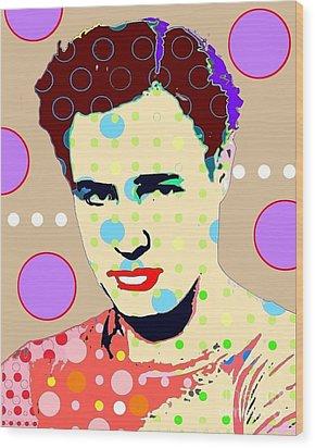Brando Wood Print by Ricky Sencion