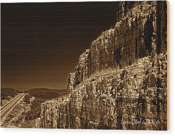 Branson Travels Wood Print by Lena Wilhite