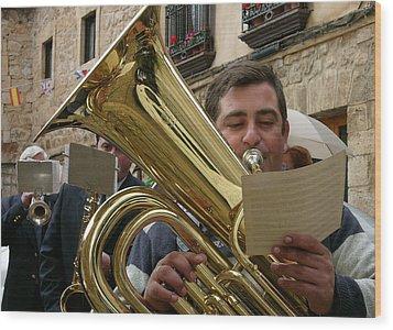 Brass Band-trombone Wood Print