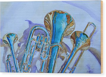 Brass Candy Trio Wood Print by Jenny Armitage