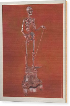 Brass Skeleton Wood Print by Paez  Antonio