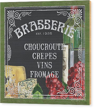 Brasserie Paris Wood Print by Debbie DeWitt