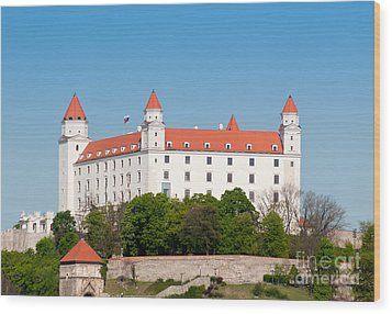 Wood Print featuring the photograph Bratislava Castle by Les Palenik