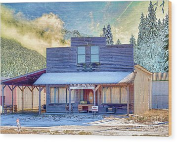 Wood Print featuring the photograph Brauer Real Estate Linwood Kansas by Liane Wright