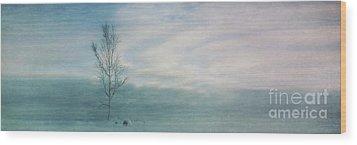 Brave The Black Frost Wood Print by Priska Wettstein