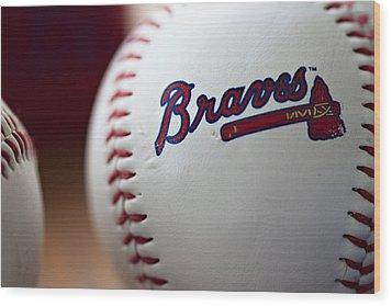 Braves Baseball Wood Print