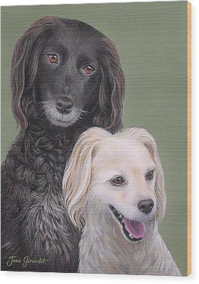 Brea And Randy Wood Print by Jane Girardot