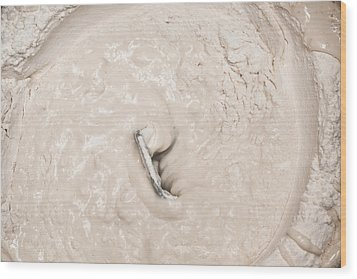 Bread Dough Wood Print by Tom Gowanlock