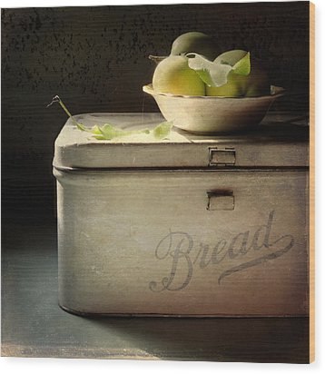 Bread Wood Print by Sally Banfill