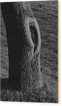 Break In The Skin Wood Print by Odd Jeppesen