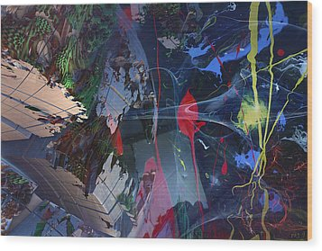 Break Through Wood Print by Roger Pearce