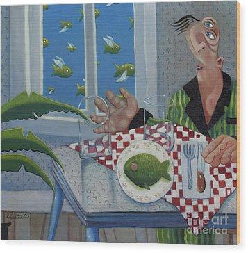 Breakfast In Barbados 1989 Wood Print by Larry Preston