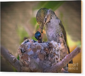 Breakfast Wood Print by Robert Bales