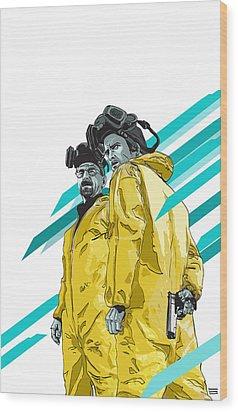 Breaking Bad Wood Print by Jeremy Scott