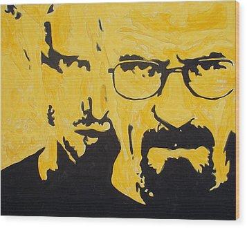 Breaking Bad Yellow Wood Print by Marisela Mungia