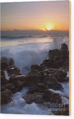 Breaking Dawn Wood Print by Mike  Dawson