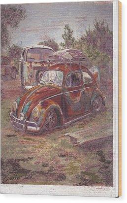 Breaking Heart Wood Print by Sharon Poulton