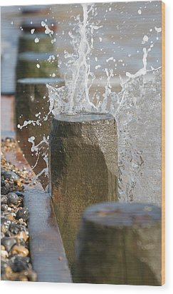 Breaking Point Wood Print by Paul Lilley
