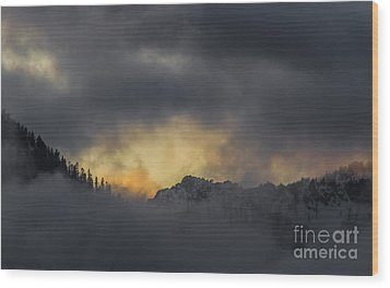 Breaking Storm Wood Print by Mitch Shindelbower