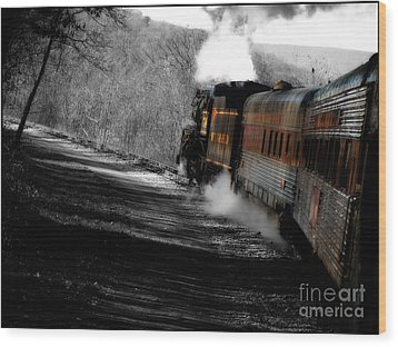 Breaking The Time Barrier  Wood Print by Steven Digman