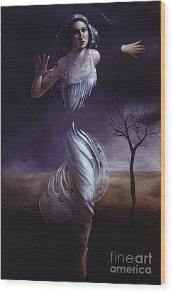 Breaking Through Wood Print by Jane Whiting Chrzanoska