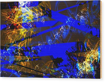 Wood Print featuring the digital art Breaking Through by Lena Wilhite