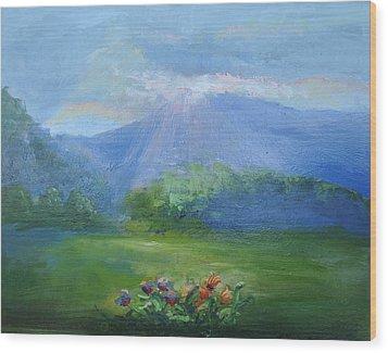 Breakthrough Light Wood Print by Patricia Kimsey Bollinger