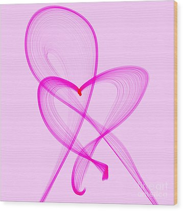 Breast Cancer Awareness . Love Wood Print
