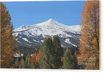 Breckenridge Colorado Wood Print by Fiona Kennard