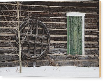 Breckenridge History In The Snow Wood Print