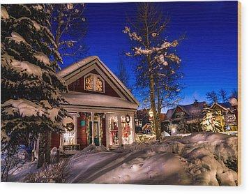 Breckenridge Winter Wonderland Wood Print by Michael J Bauer