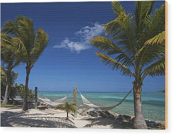 Breezy Island Life Wood Print by Adam Romanowicz