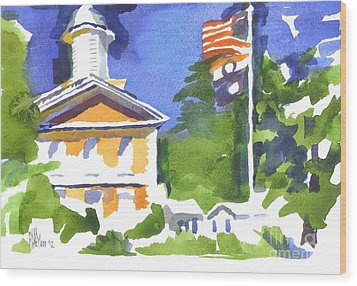 Breezy Morning At The Courthouse Wood Print by Kip DeVore