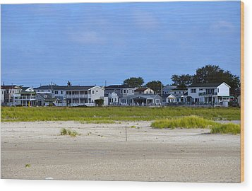 Breezy Point As Seen From Beach August 2012 Wood Print by Maureen E Ritter