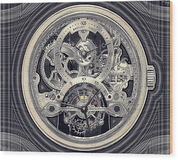 Breguet Skeleton Wood Print
