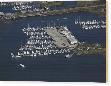 Brewer Yacht Yard, Mystic Wood Print by Dave Cleaveland