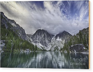 Brewing Storm Wood Print by Whidbey Island Photography