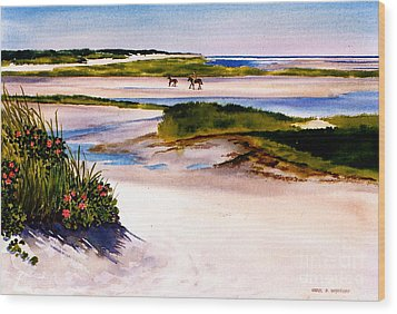 Wood Print featuring the painting Brewster Ebb Tide by Karol Wyckoff