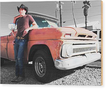 Brian Shotwell And A Truck Wood Print by Carolina Liechtenstein