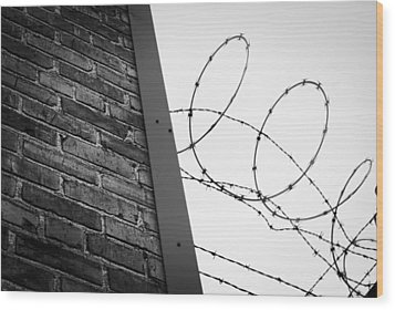 Brick And Wire Wood Print