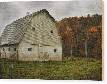 Wood Print featuring the photograph Brick Barn by Joan Bertucci