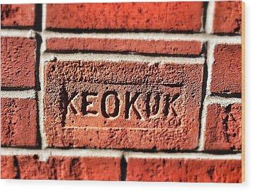Brick Wood Print by Jame Hayes