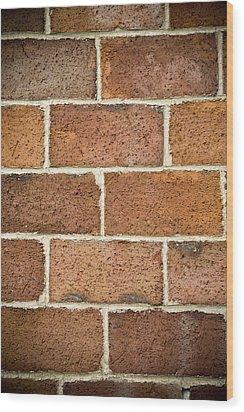 Brick Wall Wood Print by Frank Tschakert