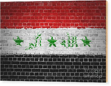 Brick Wall Iraq Wood Print by Antony McAulay