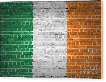 Brick Wall Ireland Wood Print