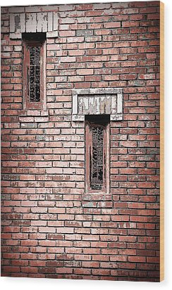 Brick Work Wood Print
