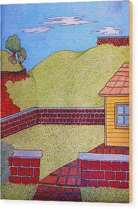 Bricks Y Casa El Lado Wood Print